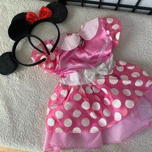 Disney Mickey Mouse Dress Pink 12 Month